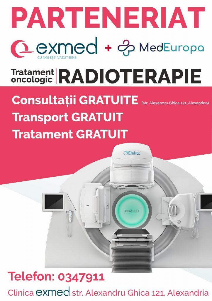 consultatii gratuite radioterapie Alexandria